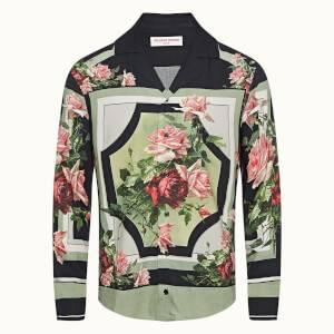 Travis 系列长袖度假风衬衫 - 野玫瑰