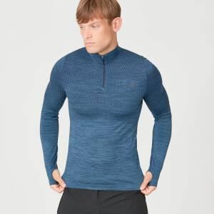 SEAMLESS 无缝系列 男士塑造 ¼ 拉链上衣 - 蓝