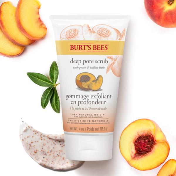 Burt's Bees 小蜜蜂蜜桃柳树皮深层去角质磨砂膏 (4 oz / 110g)