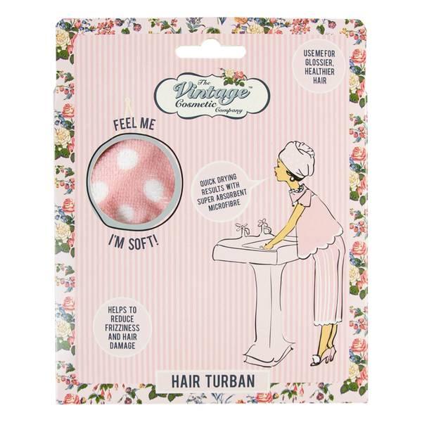 The Vintage Cosmetic Company Hair Turban - Pink Polka Dot