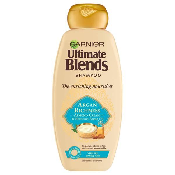 Garnier Ultimate 多元养护摩洛哥坚果油与杏仁乳洗发水 360ml | 适合干性发质