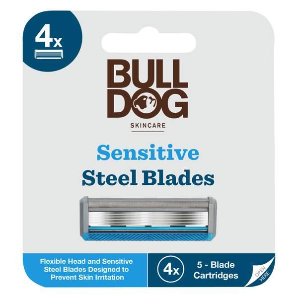Bulldog 抗敏感剃须刀片 | 4 个