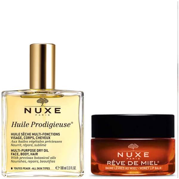 欧树 Huile Prodigieuse 护肤油和润唇膏两件套