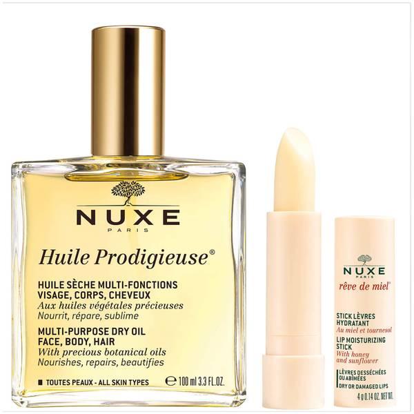 欧树 Huile Prodigieuse 护肤油和唇膏两件套