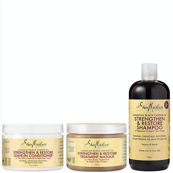 Shea Moisture Jamaican Black Castor Oil Bundle