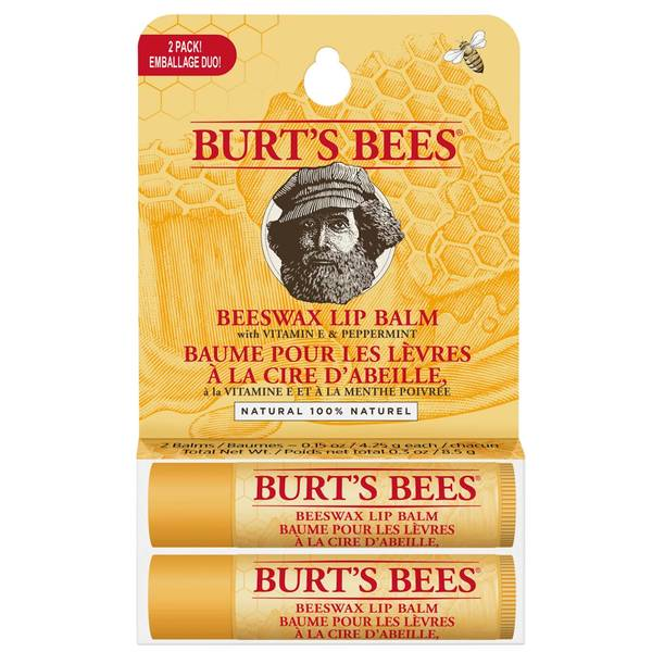 Burt's Bees 100% Natural Origin Moisturising Lip Balm Duo