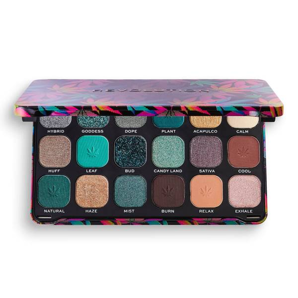 Revolution Beauty Forever Flawless Chilled with cannabis sativa Eyeshadow Palette