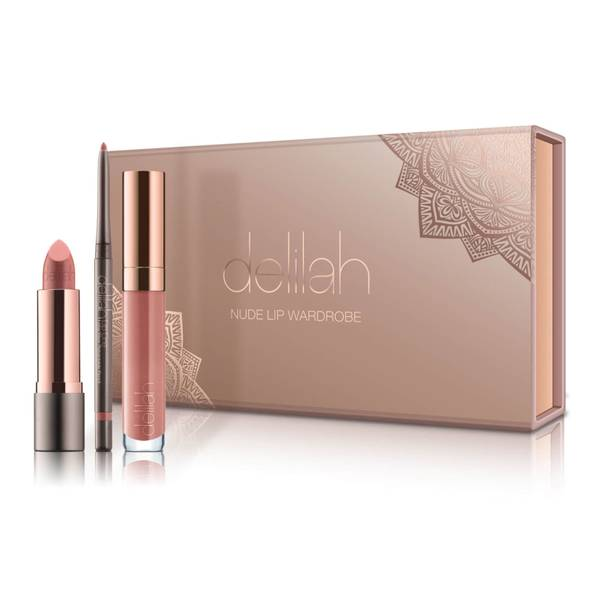 delilah Nude Lip Wardrobe Holiday Collection