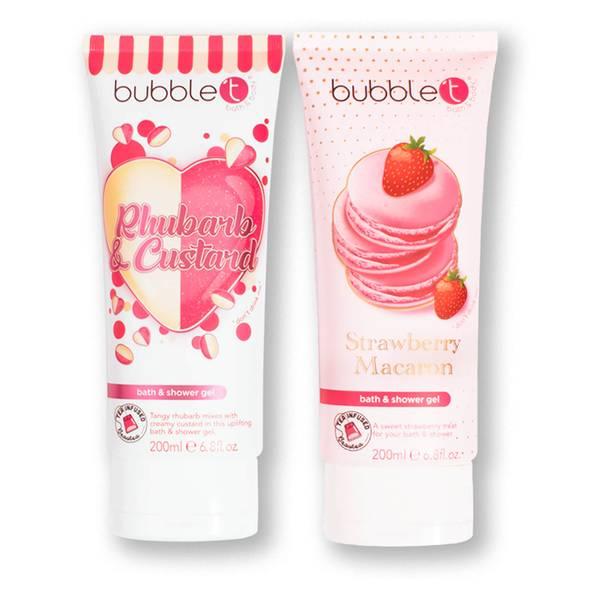 Bubble T Cosmetics Soapscription Rhubarb & Custard and Strawberry Macaron