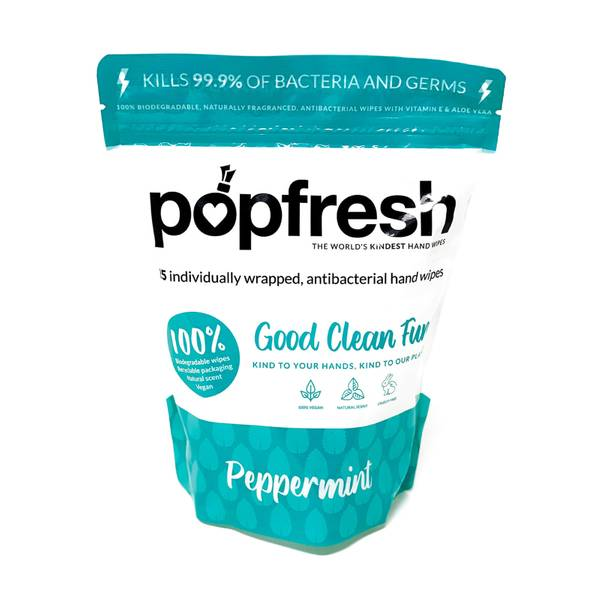 Popband London Popfresh Peppermint Sanitizing Wipes 25g
