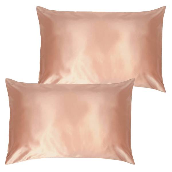 Slip Pure Silk Pillowcase Duo - Queen - Rose Gold
