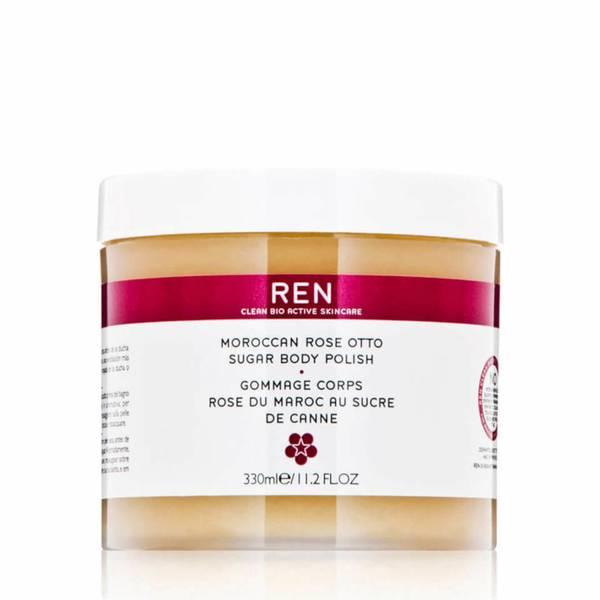 REN 奥图玫瑰蔗糖身体磨砂膏(330 毫升)