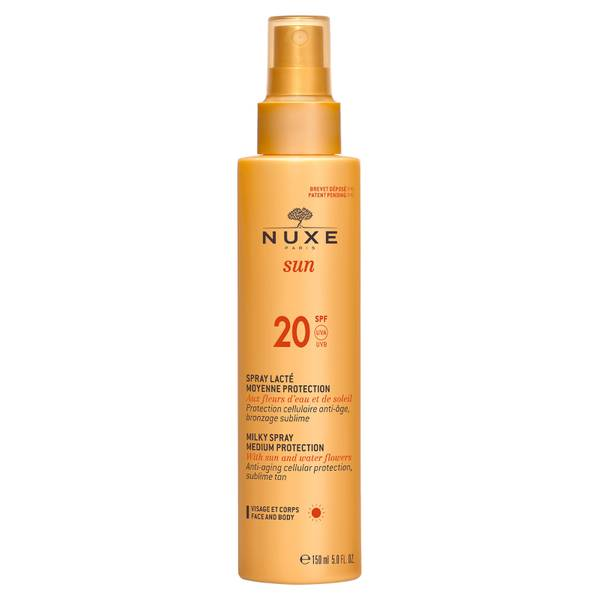 NUXE 面部和身体防晒乳状喷雾 SPF 20(150ml)- 独家