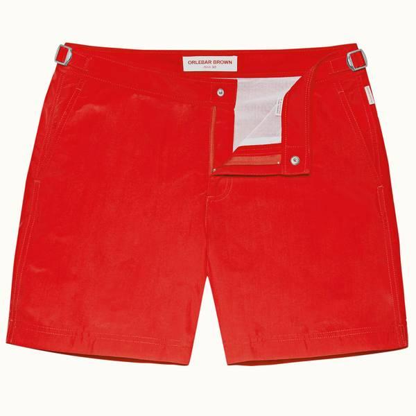 Bulldog 系列中长款游泳短裤 - 红色 (Rescue Red)