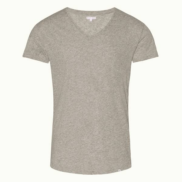 Ob-V 系列定制款 V 领 T 恤 - 灰色