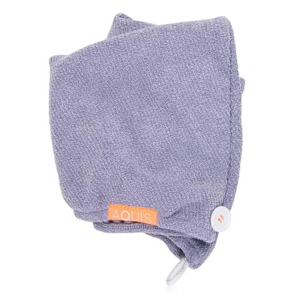 Aquis 单色奢华款干发帽 | 朦胧浆果紫
