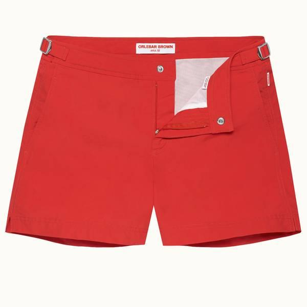 Setter 系列短款游泳短裤 - 红色 (Rescue Red)