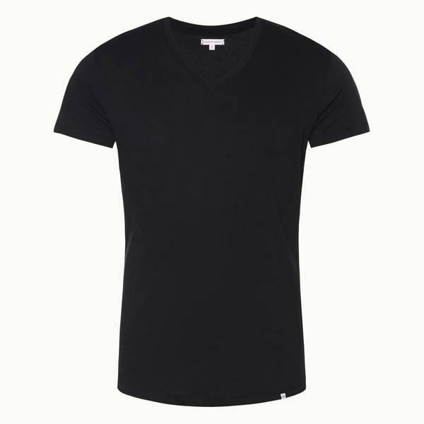 Ob-V 系列定制款 V 领 T 恤 - 黑色