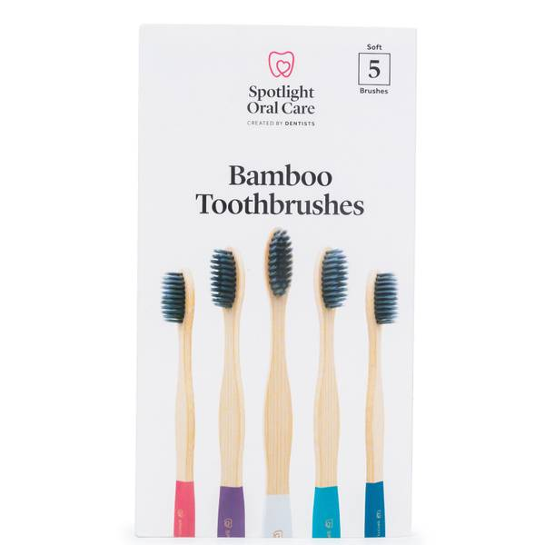 Spotlight Oral Care Bamboo Toothbrush Pack (Pack of 5)