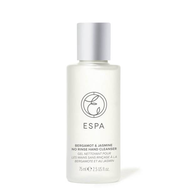 ESPA Essentials Jasmine and Bergamot Hand Sanitiser 75ml (Travel)