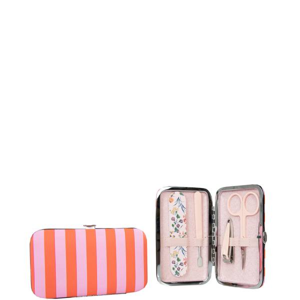 The Vintage Cosmetic Company Candy Stripe Manicure Purse