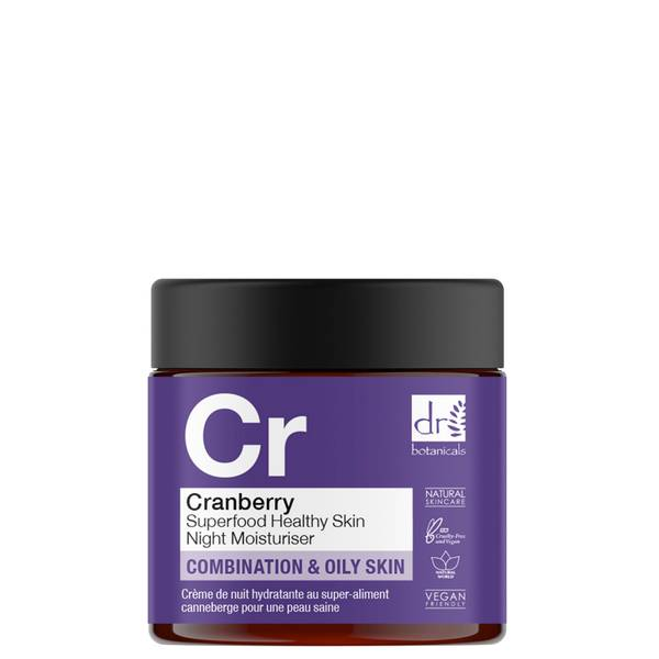 Dr Botanicals 蔓越莓超级食物健康皮肤夜间润肤霜 60ml