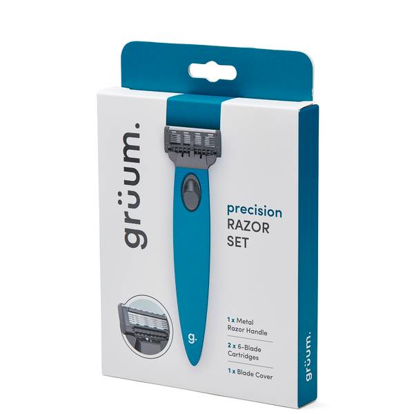grüum Precision Razor Set - Ocean Blue