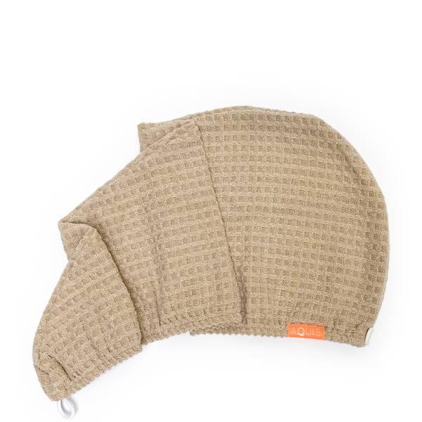 Aquis Waffle Hair Turban - Pure Sand