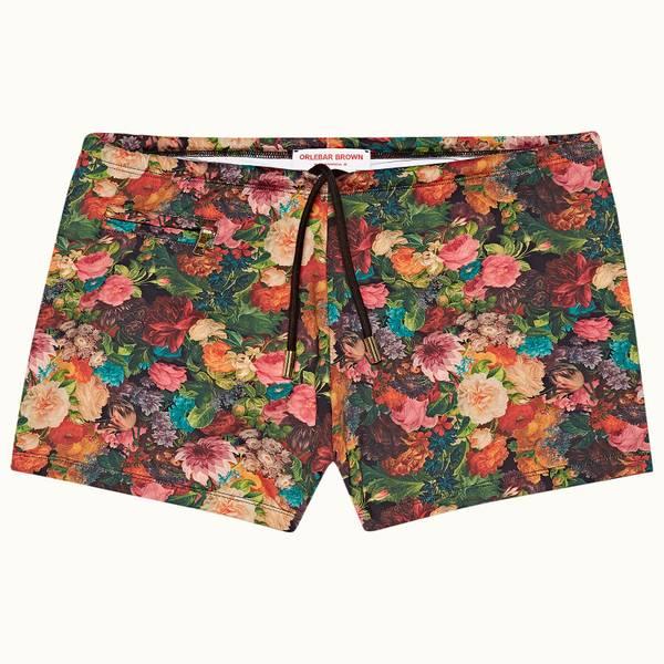 Basset X 系列玫瑰/毛茛野玫瑰印花款短裤