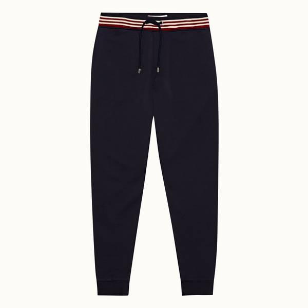 Beagi 系列罗纹条纹经典款长裤-海军蓝