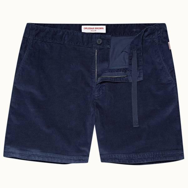 Bulldog Corduroy系列灯芯绒抽绳短裤 - 海军蓝