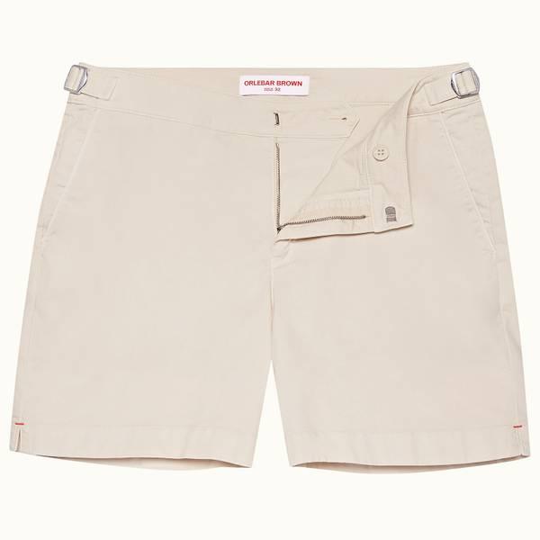 Bulldog Cotton Twill 系列斜纹布棉质中长款短裤 - 杏白色