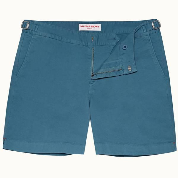 Bulldog Cotton Twill 系列斜纹布棉质中长款短裤- 卡普里蓝
