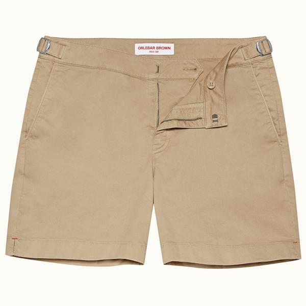 Bulldog Cotton Twill 系列斜纹布棉质中长款短裤 - 沙丘黄