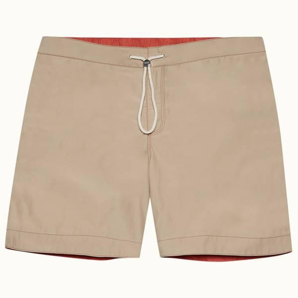Bulldog Drawcord系列抽绳中长款游泳短裤 - 沙丘黄