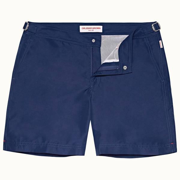 Bulldog 系列中长款游泳短裤 - 水洗蓝
