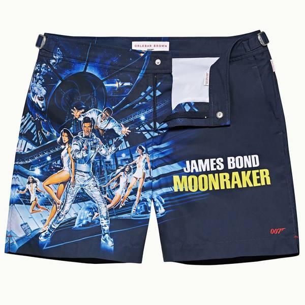 Bulldog 007 之《太空城》电影系列中长款游泳短裤