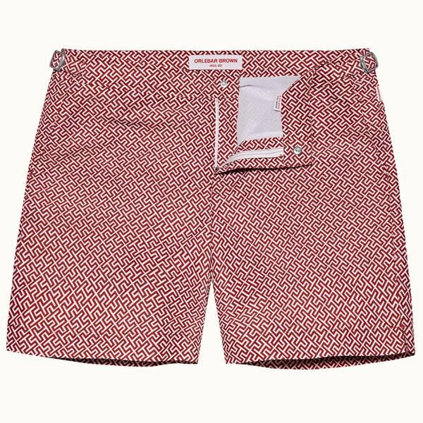 Bulldog 纳林 系列短裤 - 复古玫瑰红/纯白色