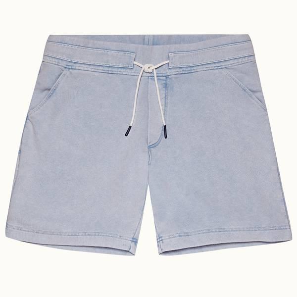 Dania 系列经典修身款短裤- 水洗卡普里蓝