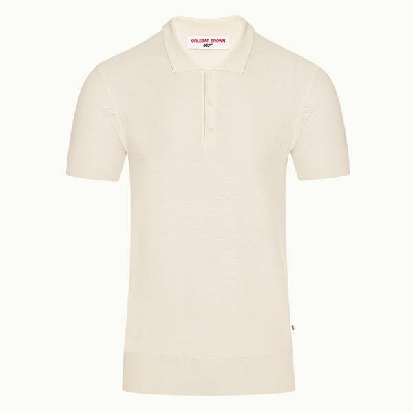Dr. No Knitted Polo 007 系列修身丝质 Polo 衫