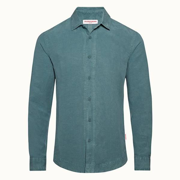 Giles 系列经典定制款 衬衫 - 灰绿色