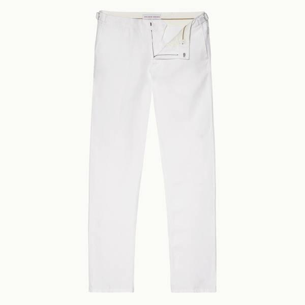 Griffon Linen 系列亚麻定制款长裤-白色