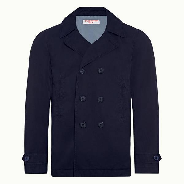Halbert 系列定制款双排扣夹克-海军蓝