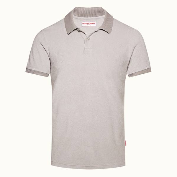 Jarrett Towelling 系列 经典款毛巾布Polo 衫 - 泥灰色/灰绿色