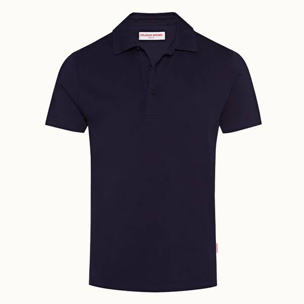 Linwood 系列 经典款丝光绵 Polo 衫 - 海军蓝