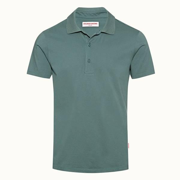 Linwood 系列 经典款丝光绵 Polo 衫 - 灰绿色