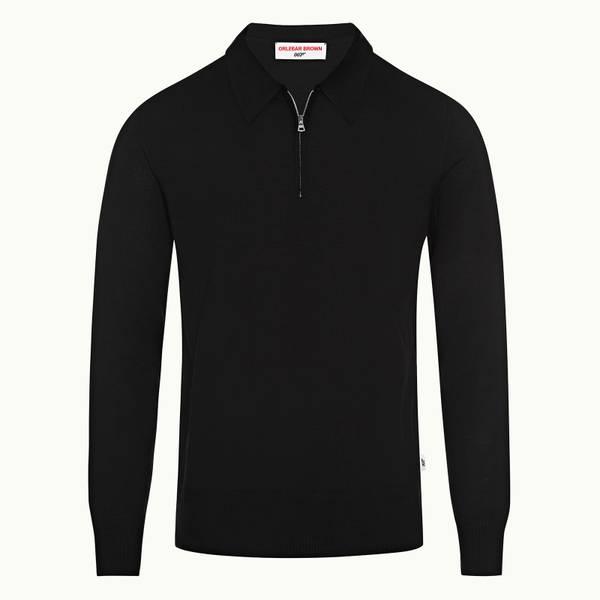 Moonraker Knitted Half Zip 007 系列美利奴羊毛针织半拉链套头衫