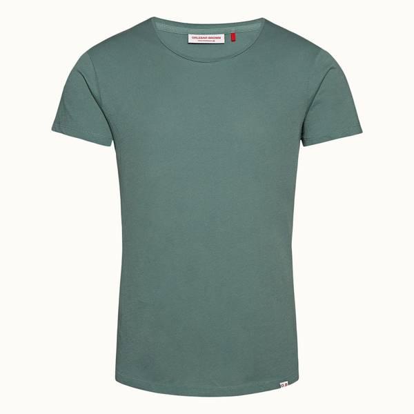 OB-T 系列定制款圆领 T 恤- 灰绿色