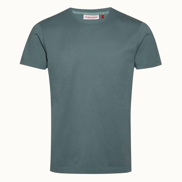 OB-T 系列定制款丝光棉圆领 T 恤 - 灰绿色