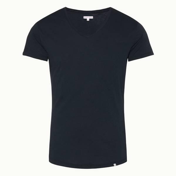 Ob-V 系列定制款 V 领 T 恤 - 海军蓝